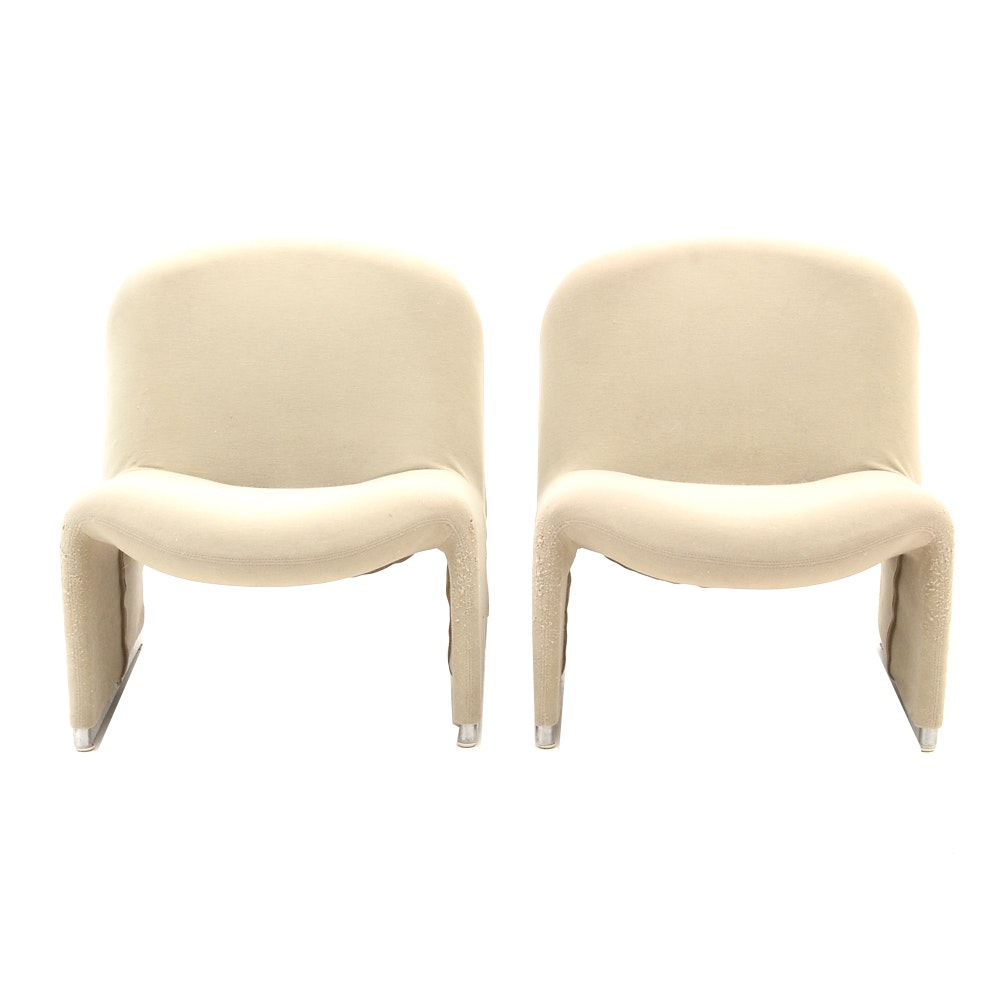 """Mid Century Modern """"Alky"""" Lounge Chairs by Giancarlo Piretti"""