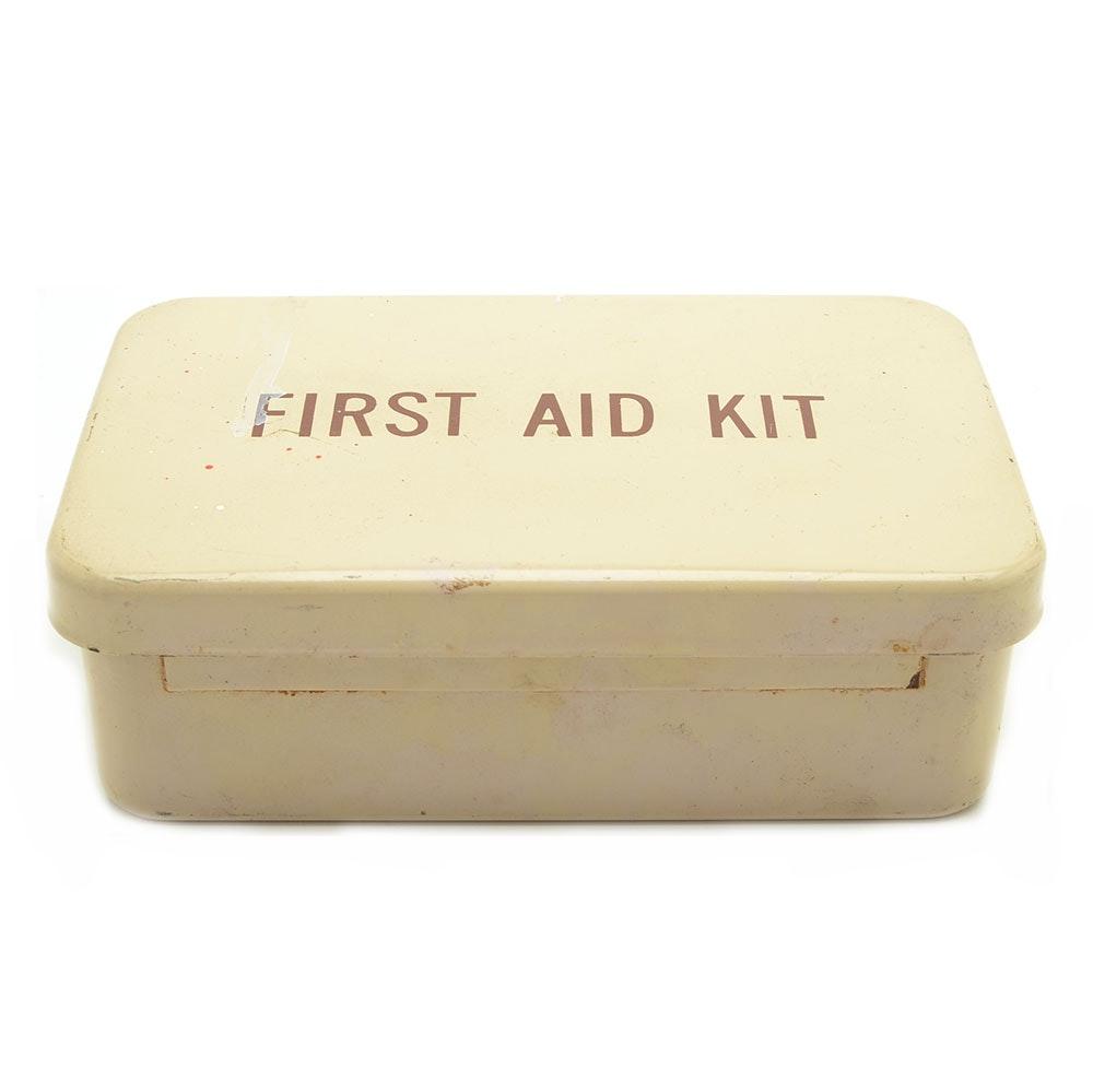 Vintage First Aid Kit Metal Box