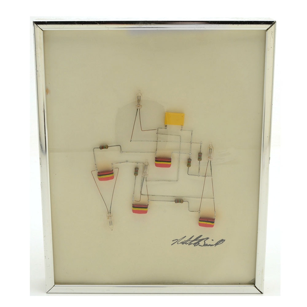 """Nicholas Bassill """"L'ectrique Art"""" Framed Signed Artwork"""