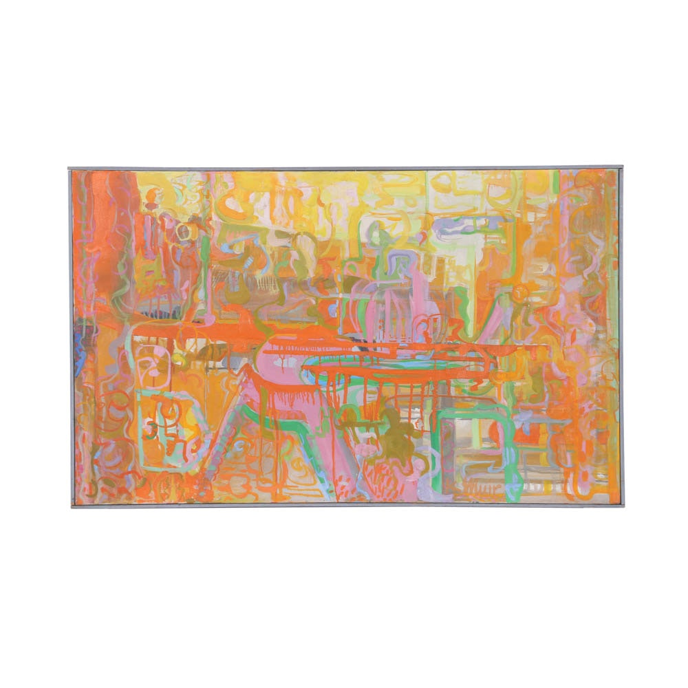 """Kay Muir Original Oil on Canvas """"Highway Confusion"""""""
