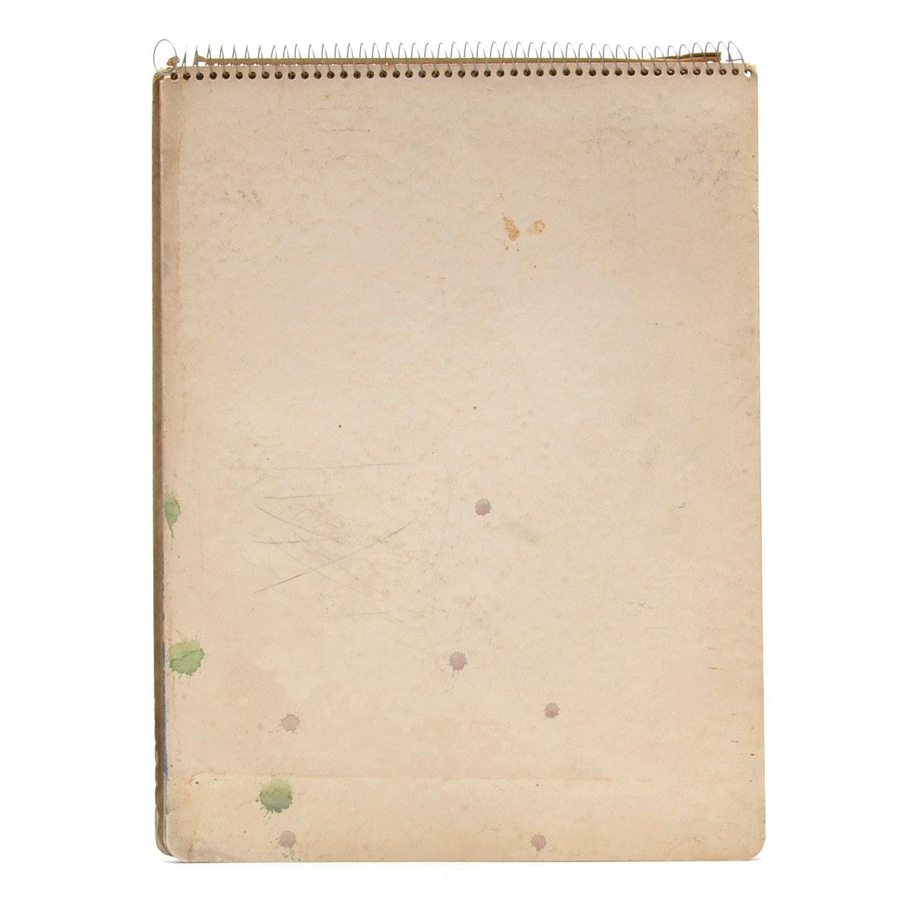 Paul Chidlaw Vintage Used Sketchbook
