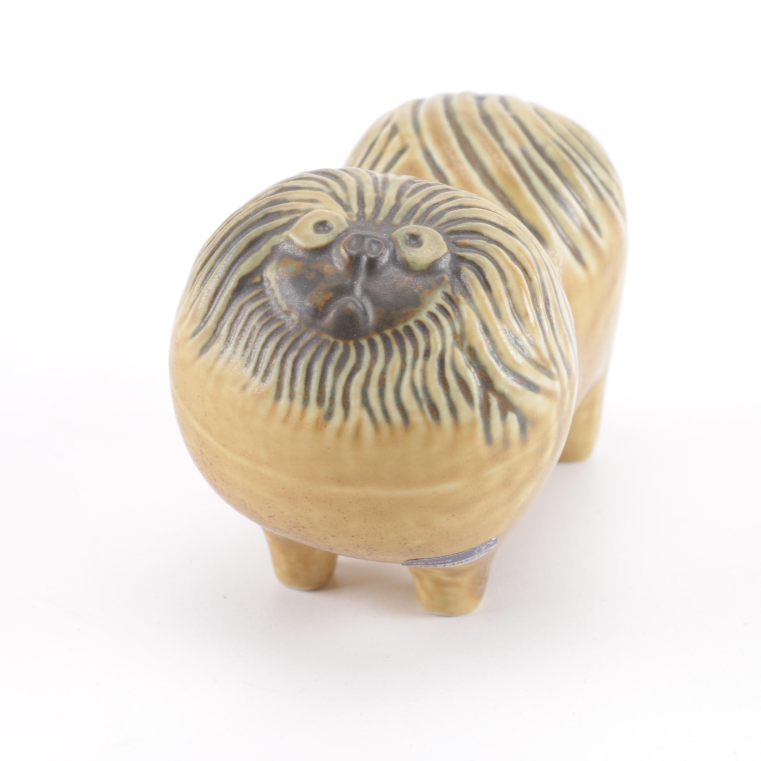 Ceramic Dog Figurine by Lisa Larsson for Gustavsberg