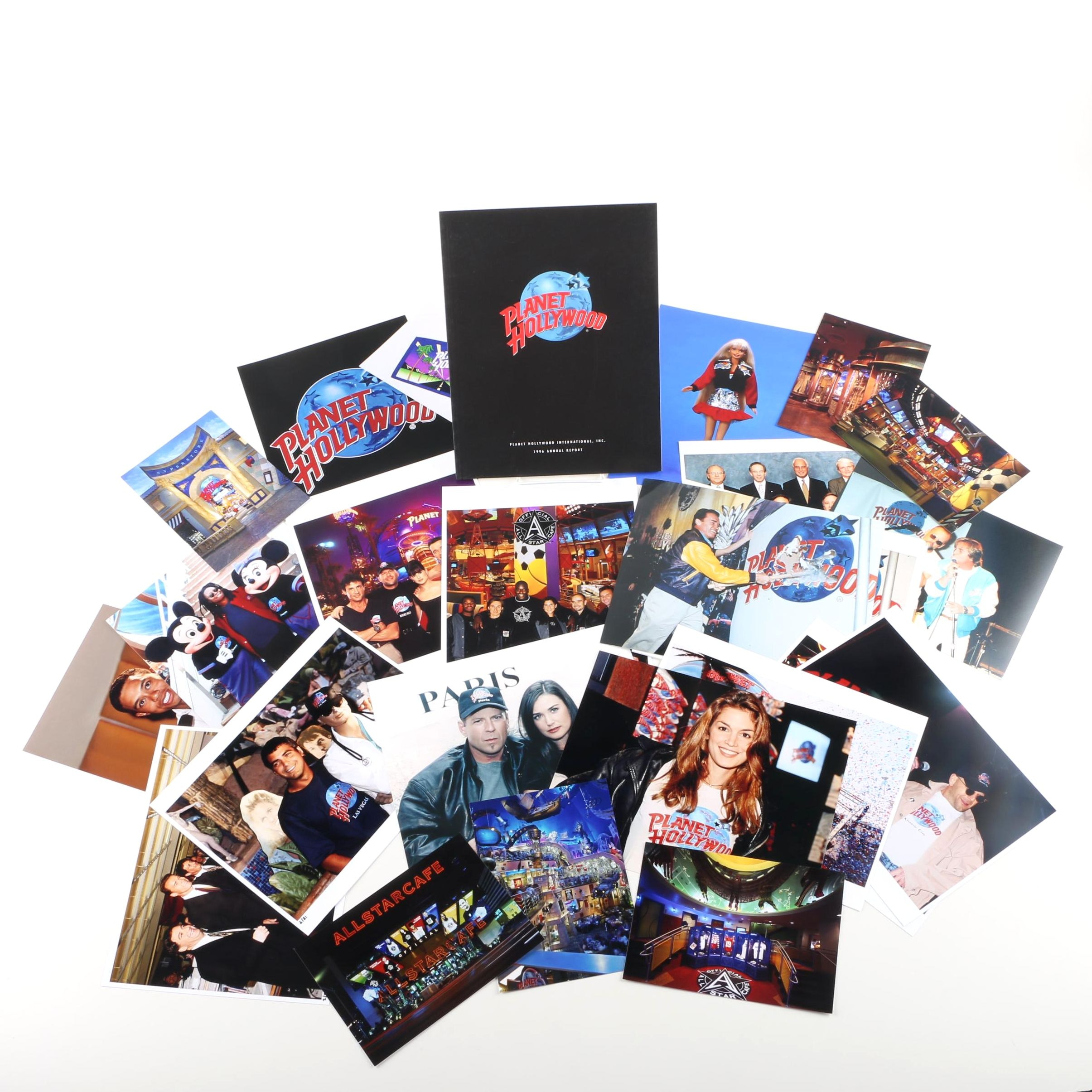 Collection of Planet Hollywood and All-Star Cafe Ephemera