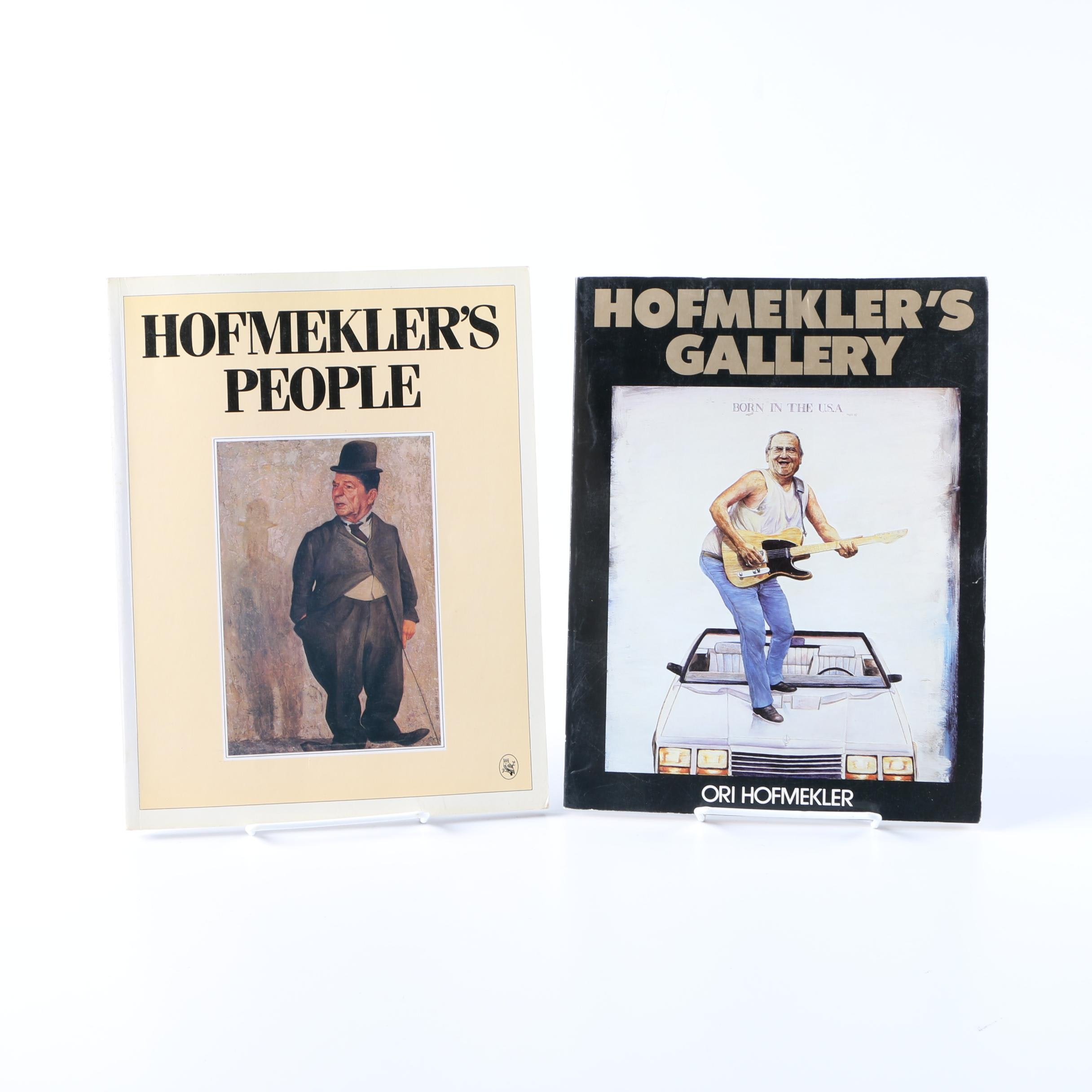 Signed Pair of Ori Hofmekler Illustrated Books