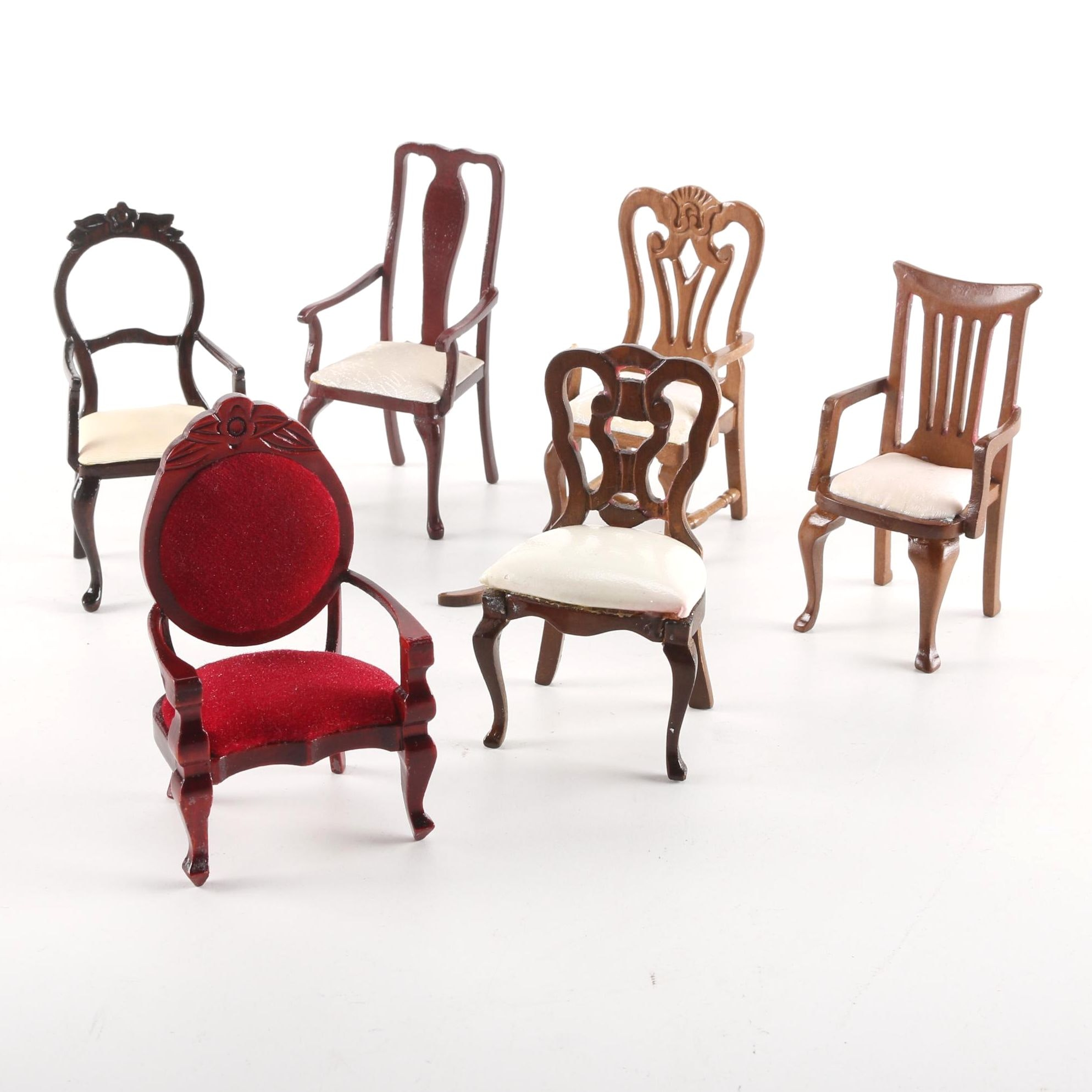 Vintage Dollhouse Chairs Featuring Classics