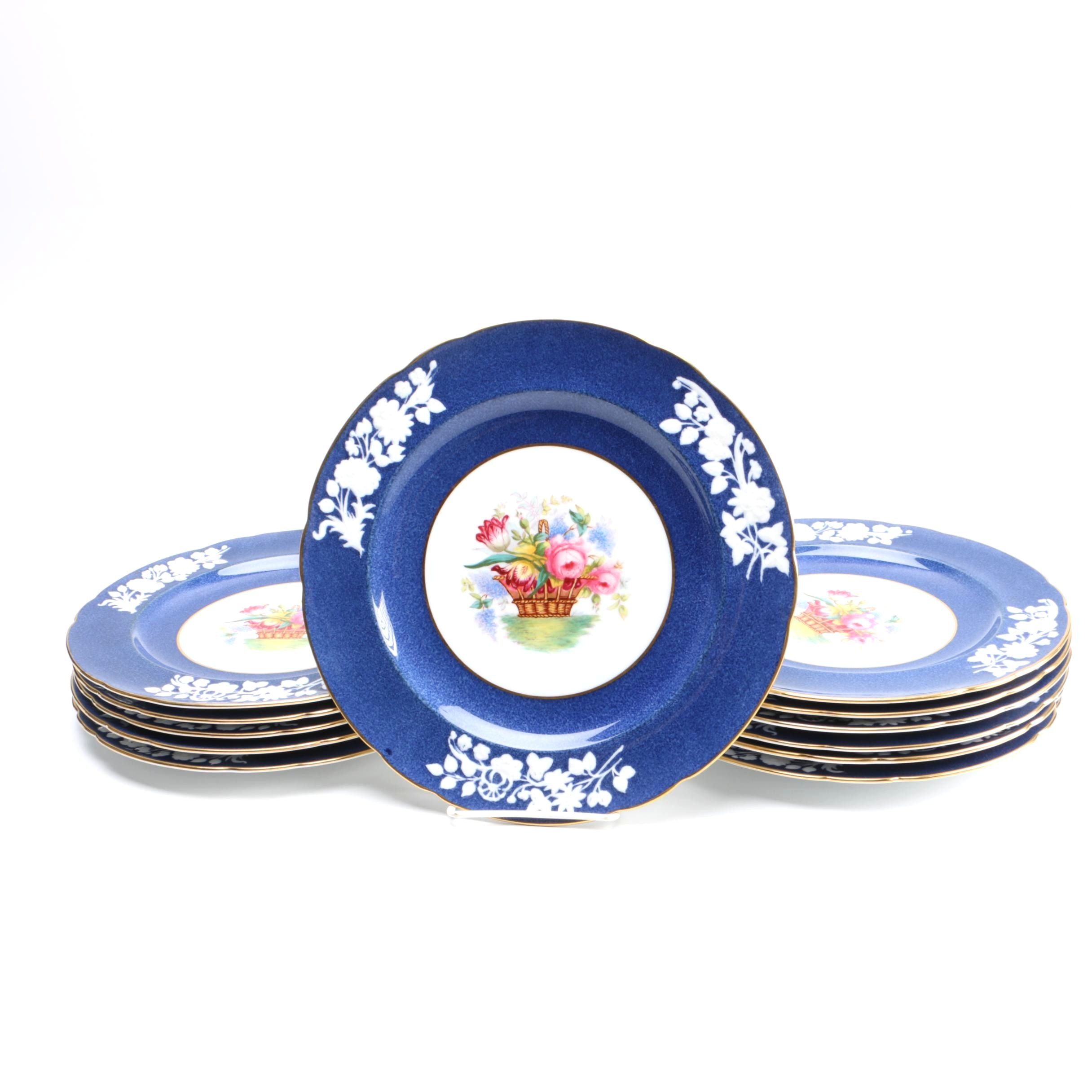 Antique Copeland Spode Porcelain Dinner Plates