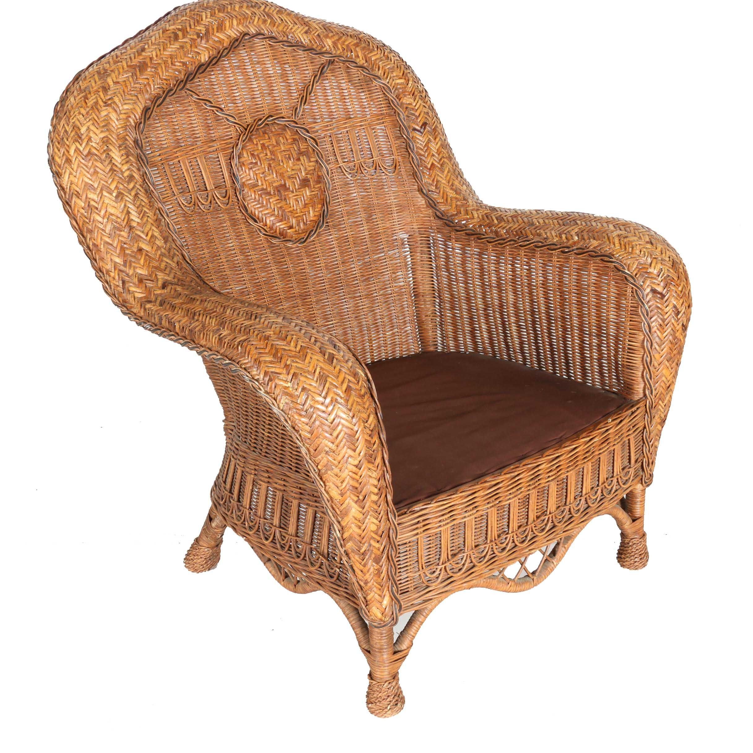 Rattan Armchair With Cushions