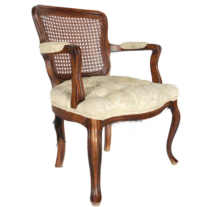 Vintage Louis XV-Style Cane Back Armchair | EBTH