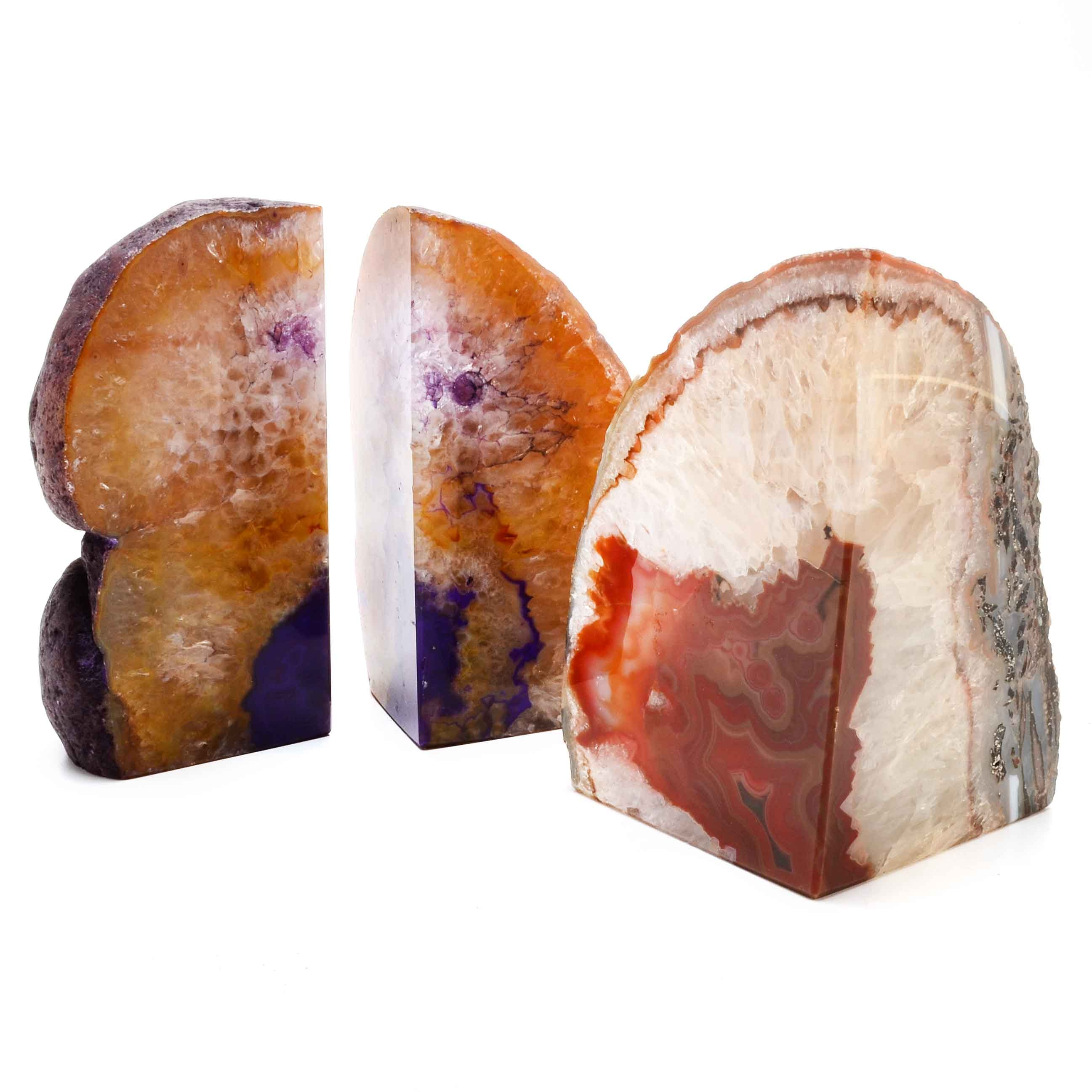 Dyed, Cut and Polished Geode Slabs
