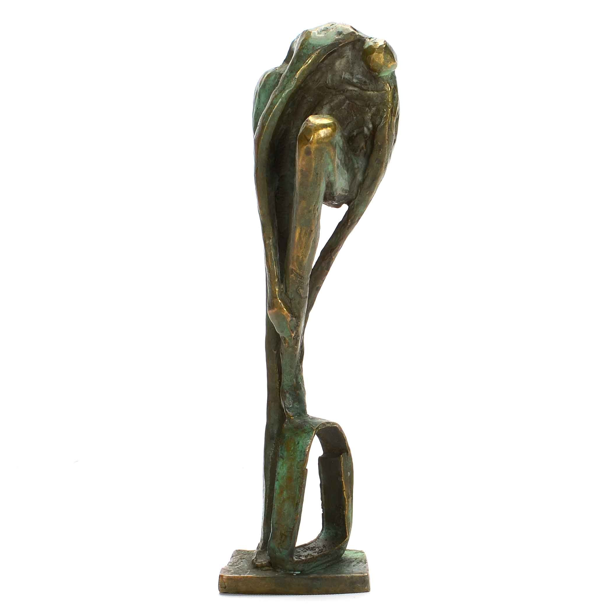 Brutalist Bronze Statue of a Woman