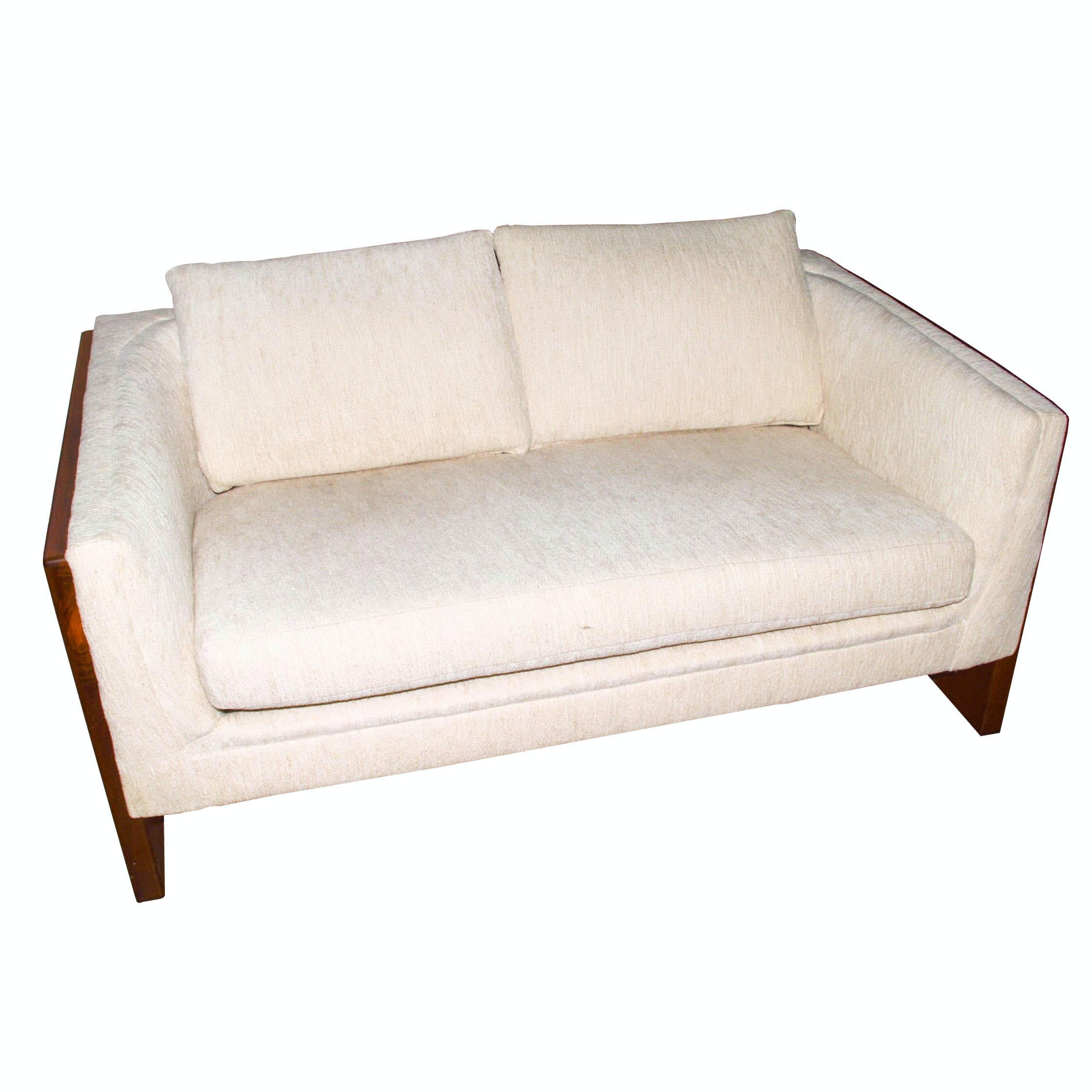 Danish Modern Upholstered Love Seat