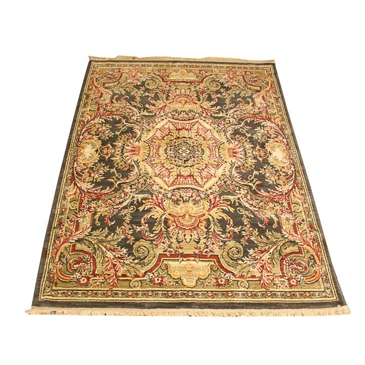 Power-Loomed Savonnerie-Style Wool Area Rug