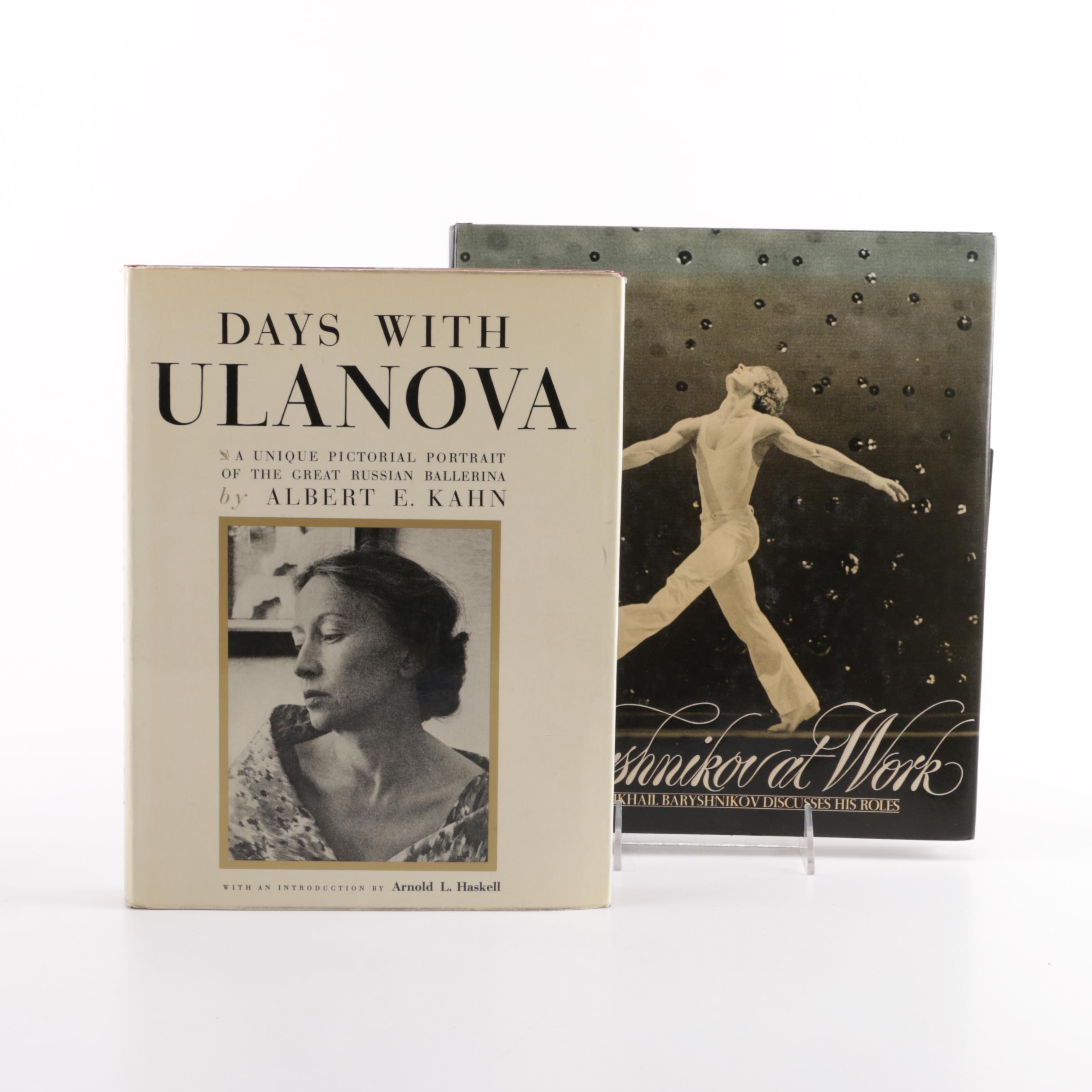 """Days With Ulanova"" and ""Baryshnikov at Work"" Ballet Dancer Books"