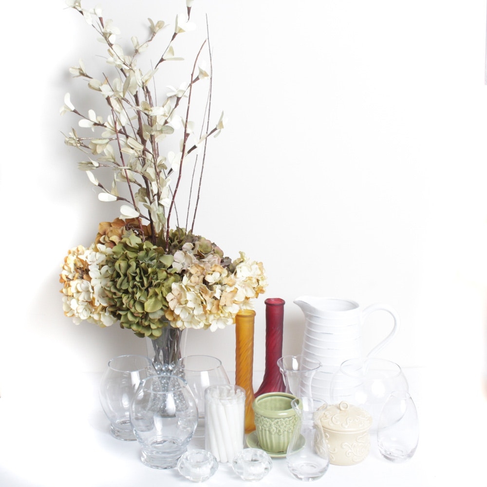 Collection Of Floral Glass And More