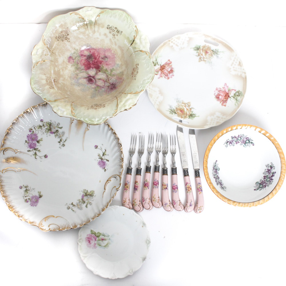 Eclectic Collection Of Decorative China Including KPM