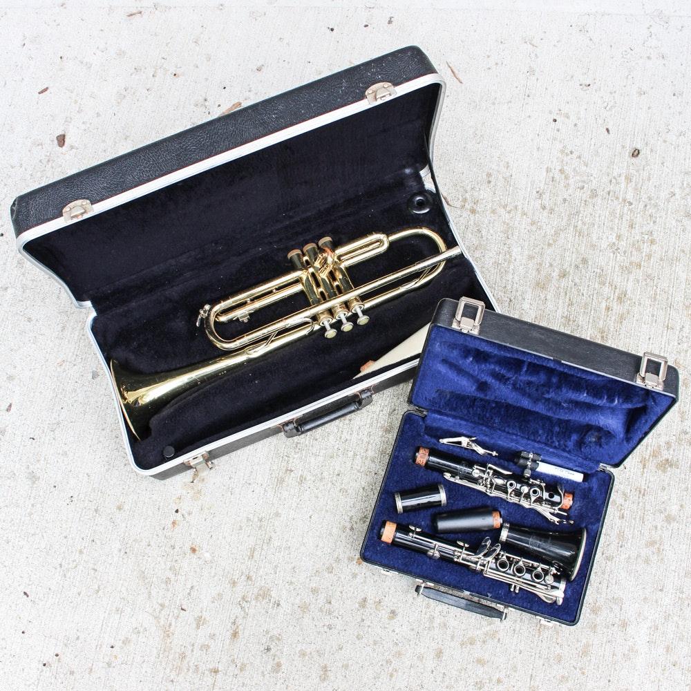 Trumpet and Bundy Clarinet