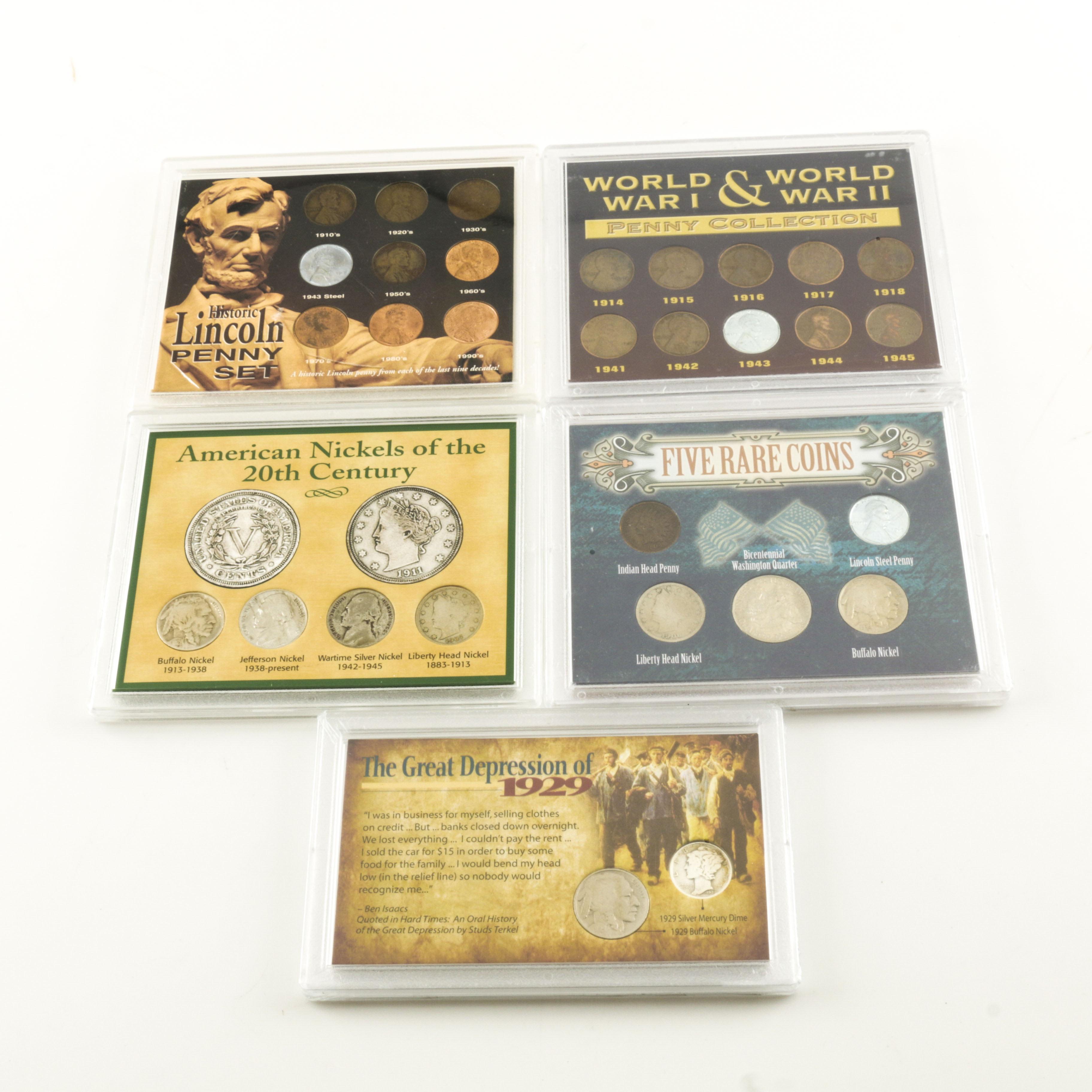 Five U.S. Coin Sets