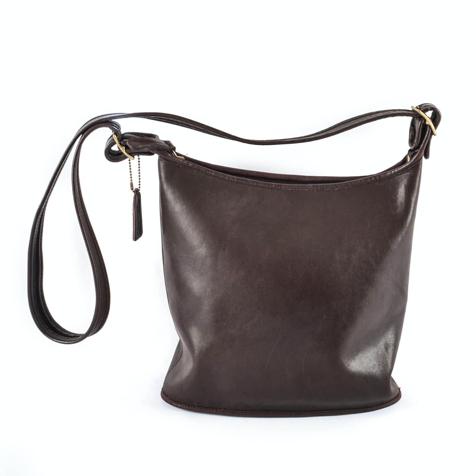 Vintage Coach Leather Legacy Bucket Bag