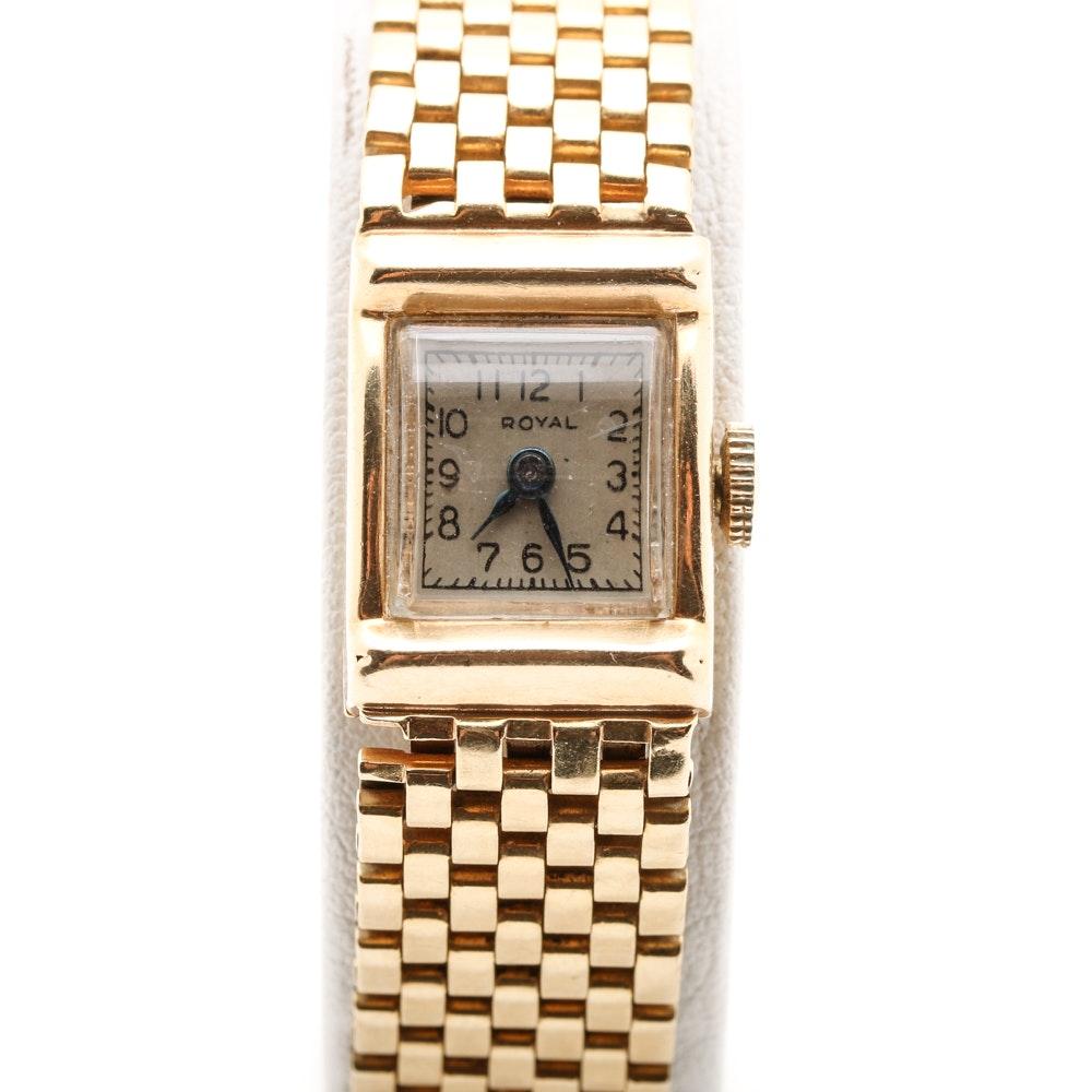 Royal 14K Yellow Gold Wristwatch