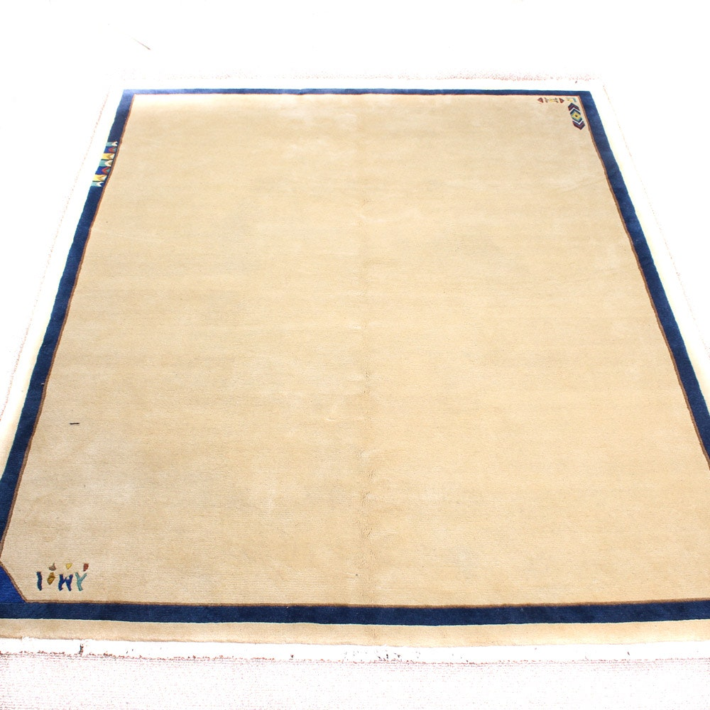 Hand-Knotted Indo-Persian Gabbeh Pictorial Area Rug