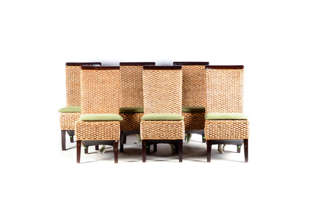 Braided Seagrass Dining Chairs