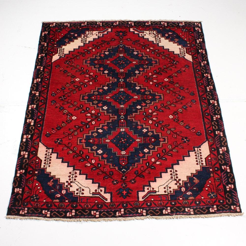 Circa 1920s Hand-Knotted Persian Serapi Heriz Area Rug