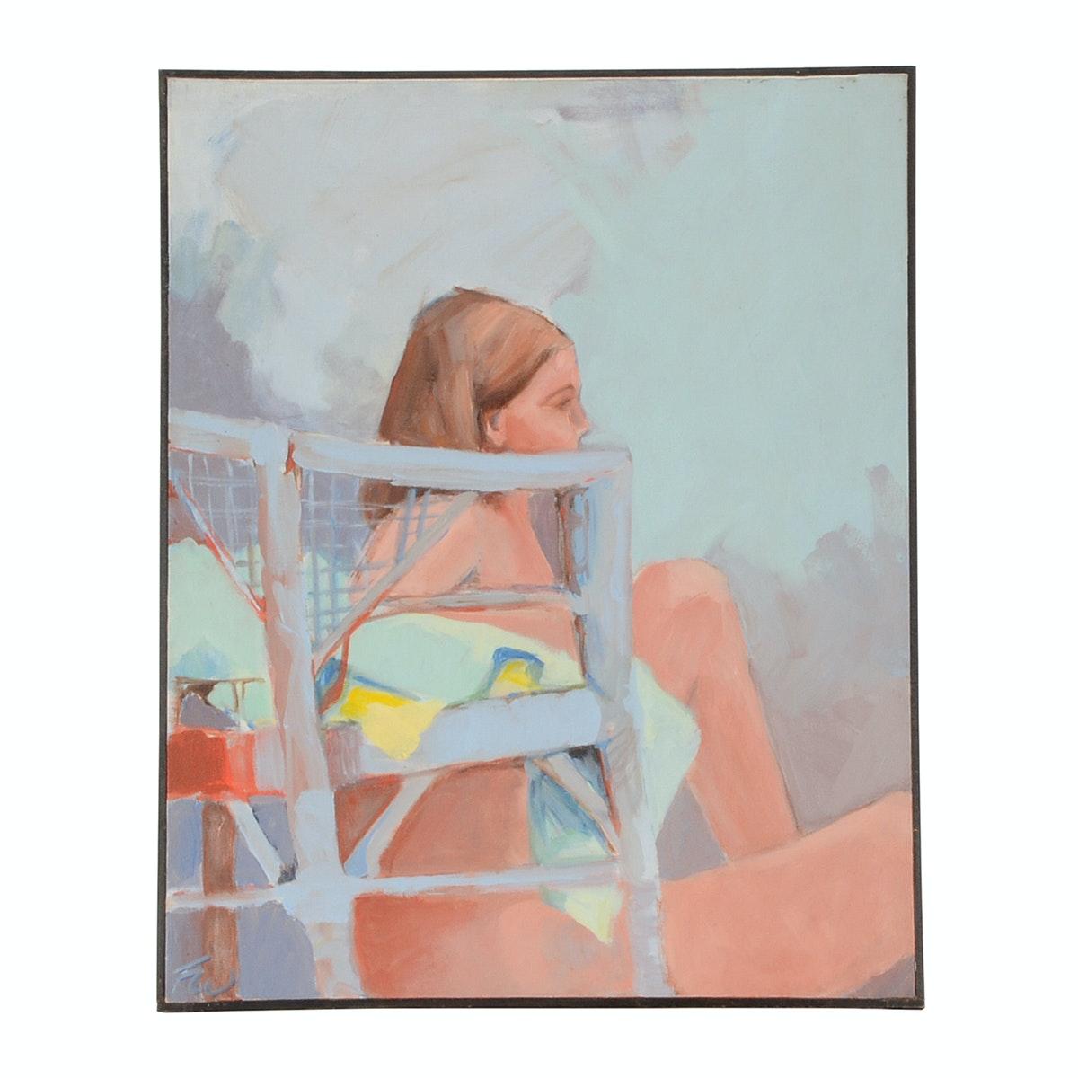 Fran Watson Original Figurative Acrylic Painting on Canvas