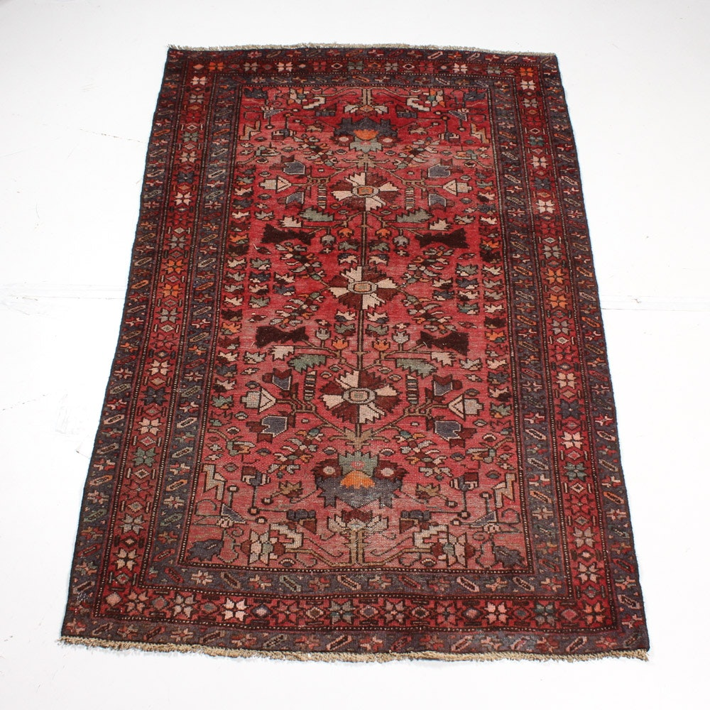 Antique Hand-Knotted Persian Viss Heriz Rug