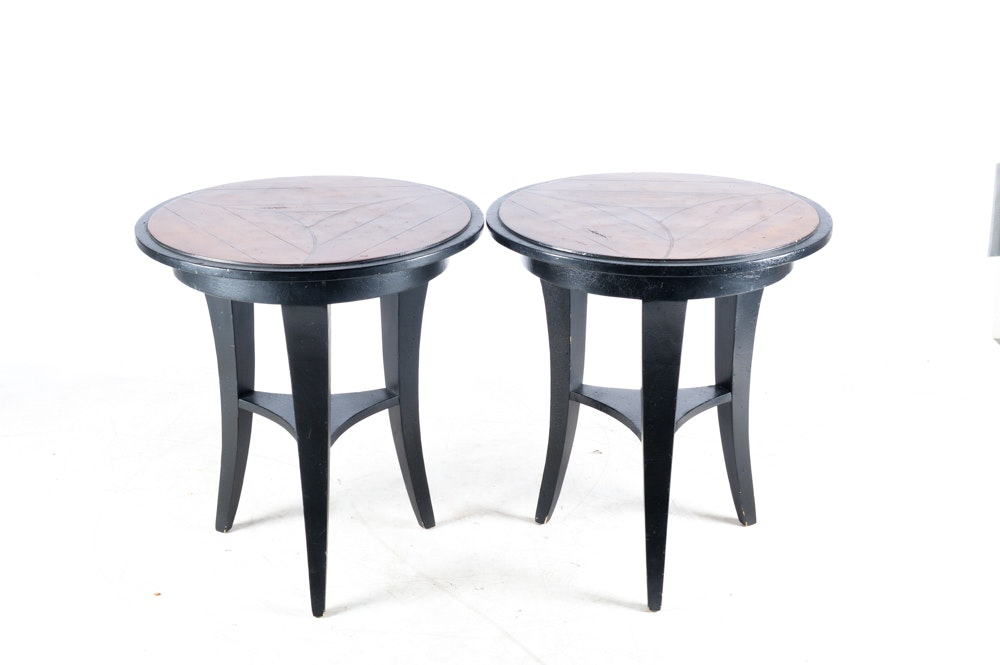 Pair of Round Accent Tables