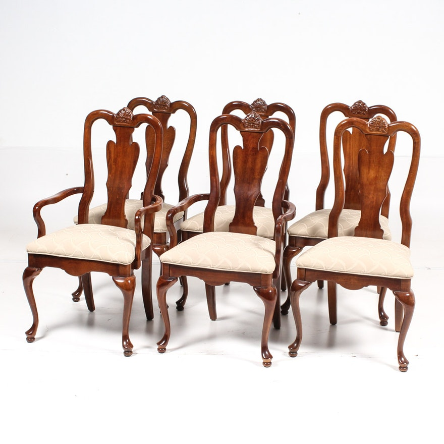 Queen Anne Style Dining Chairs : EBTH