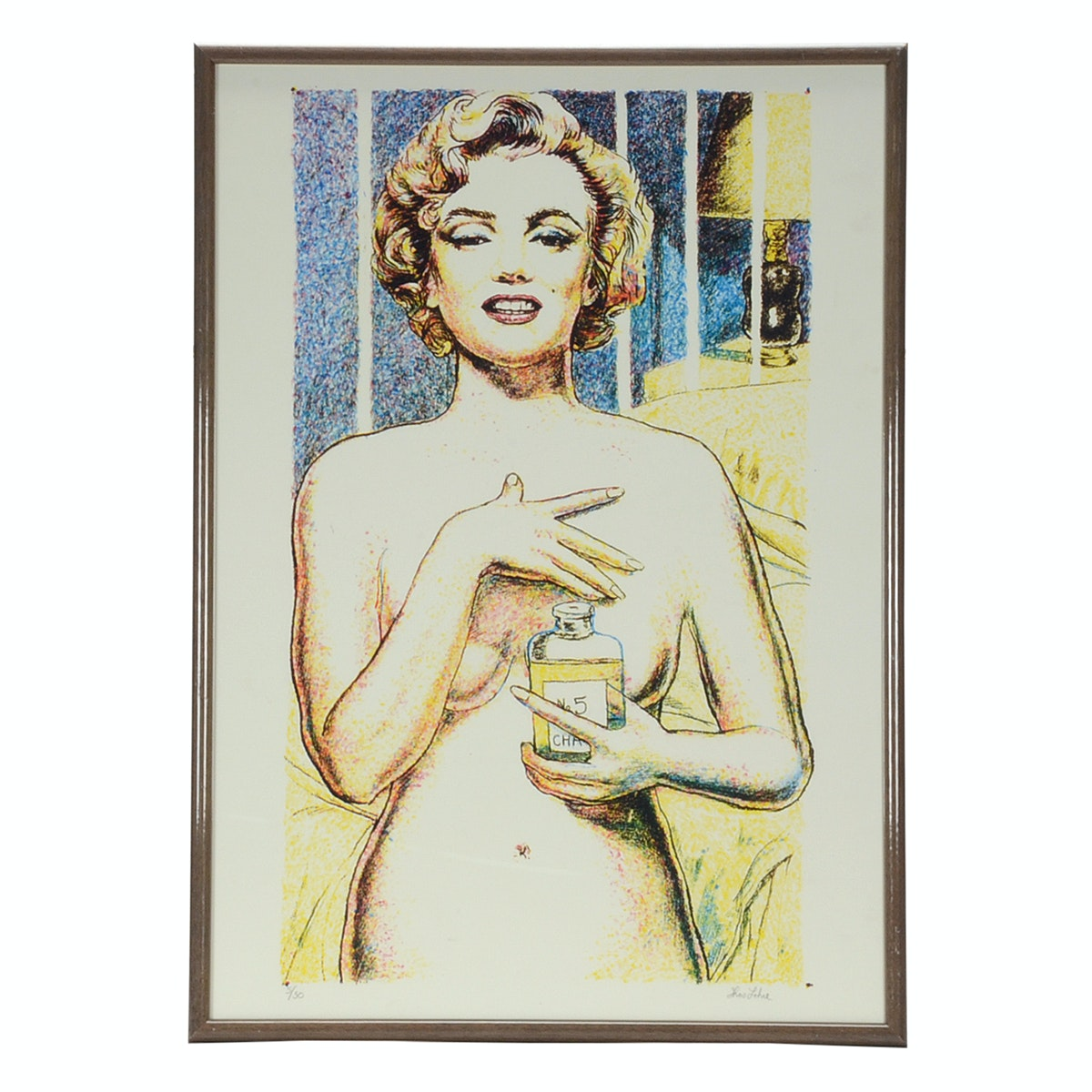 Tom Lohre Signed Limited Edition Serigraph of Marilyn Monroe with Perfume