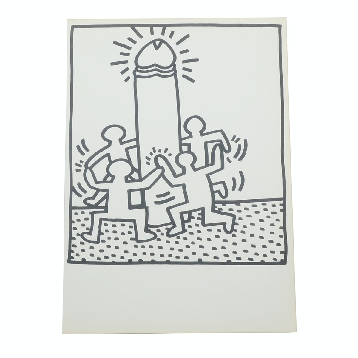 """Keith Haring Limited Edition Lithograph from """"Keith Haring, 1983, Lucio Amelio."""""""