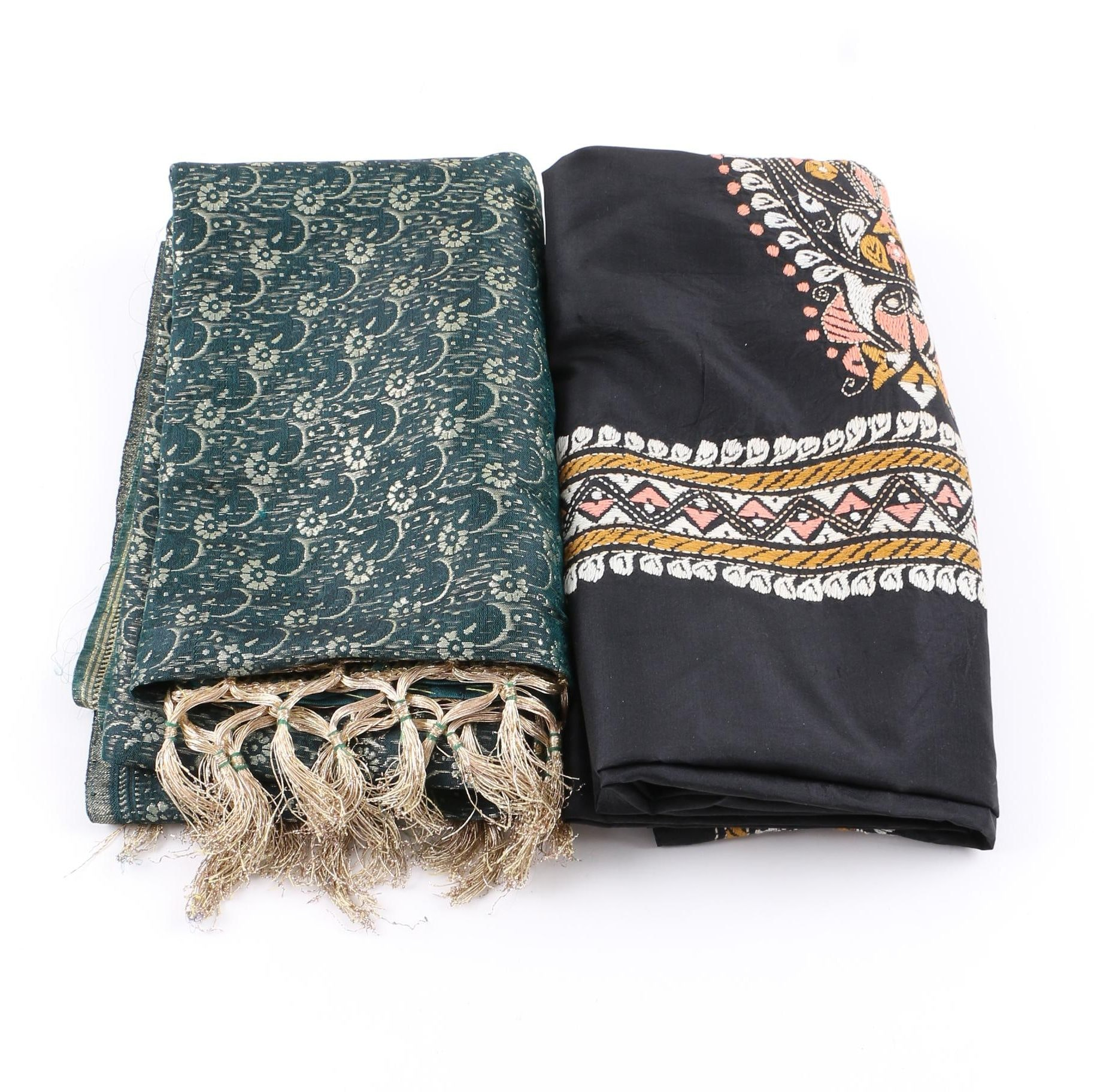 Colorful Scarves Including Embroidered Design