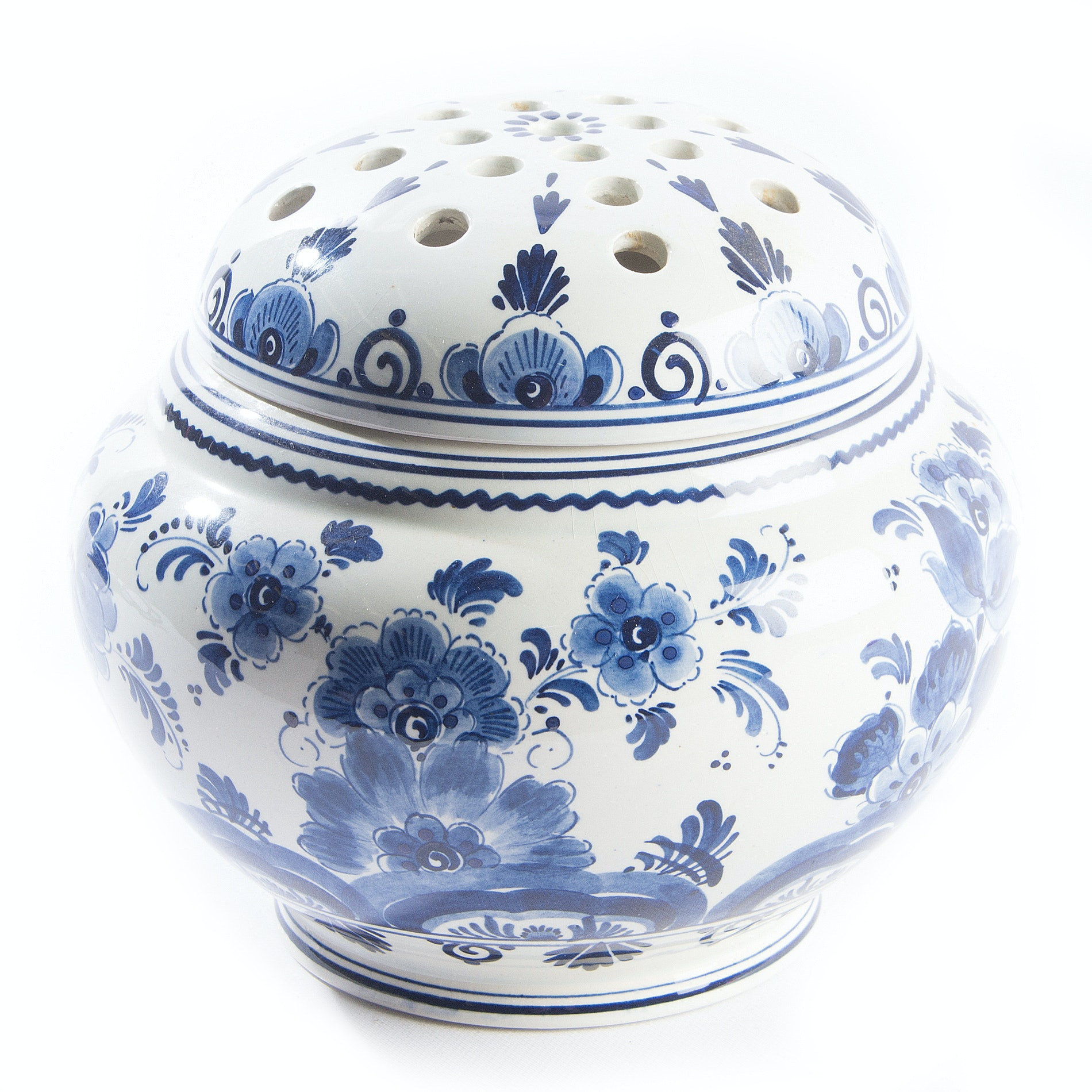 Delft Blauw Handpainted Blue and White Vase