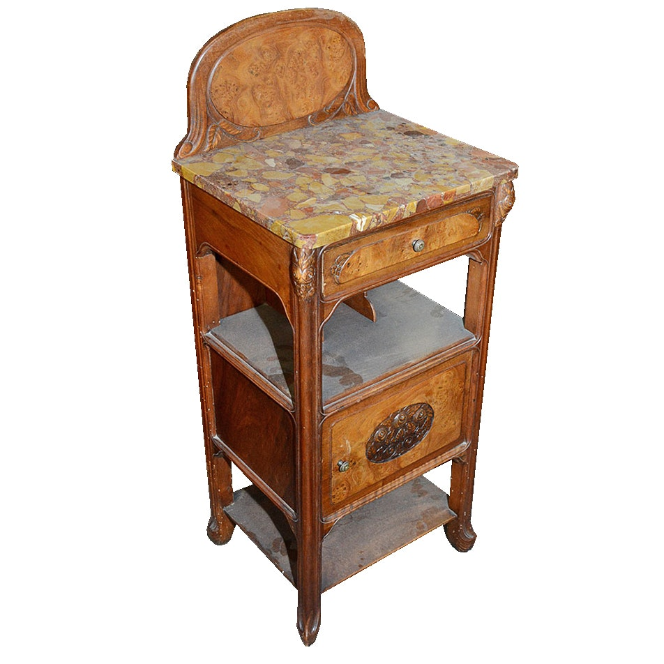 French Art Nouveau Style Ice Chest Table