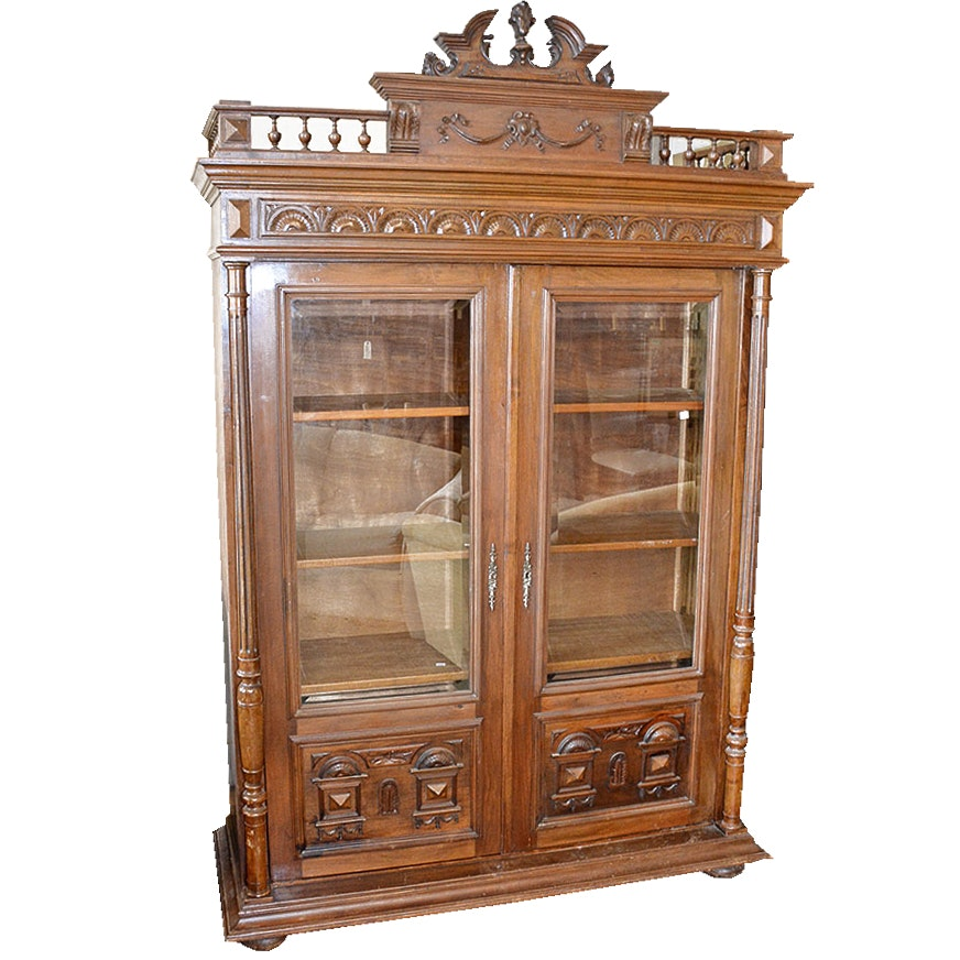 Victorian Style Knockdown China Cabinet