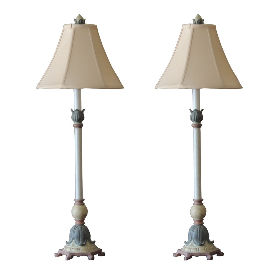 Pair of french provincial style table lamps ebth pair of french provincial style table lamps aloadofball Image collections