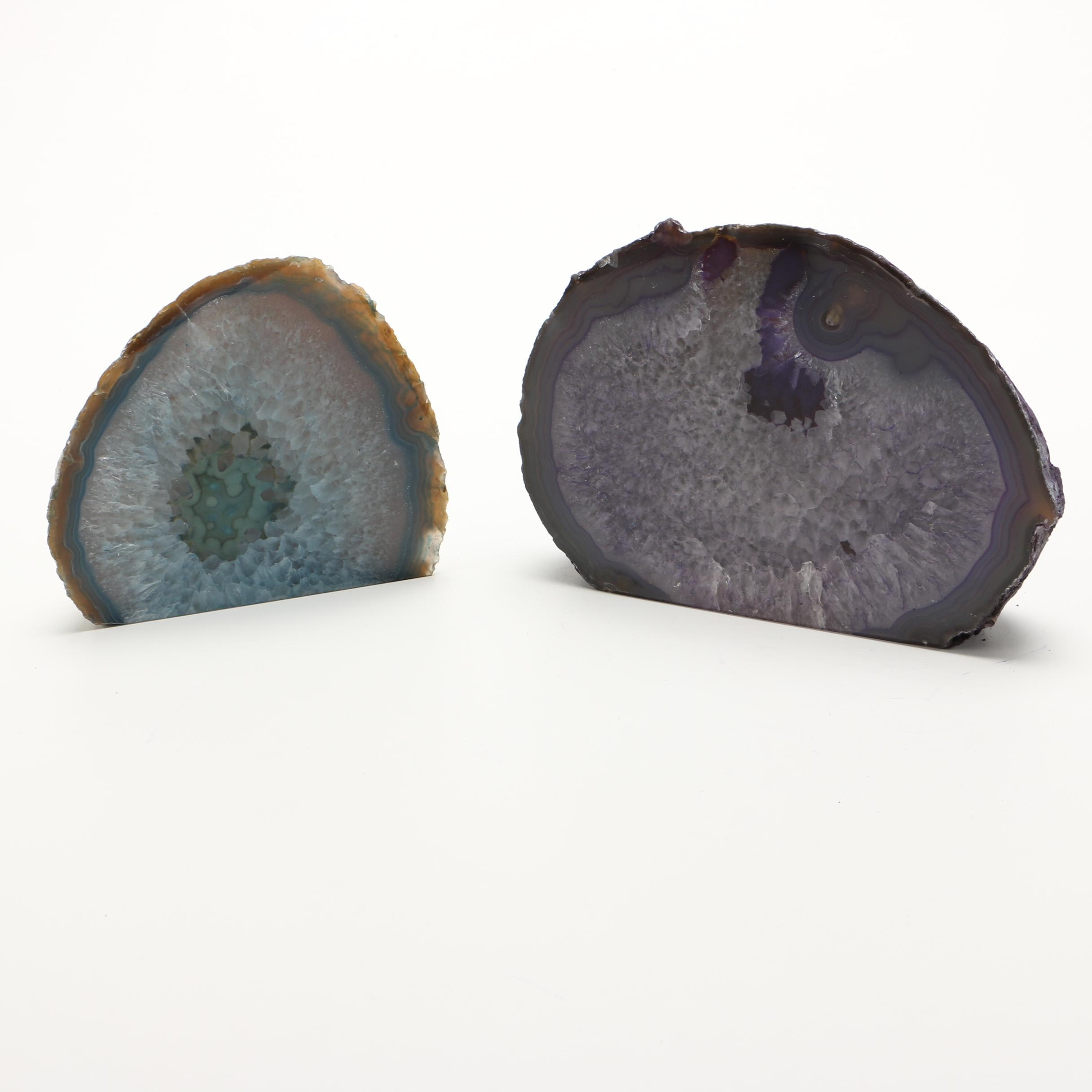 Dyed Agate Bookends