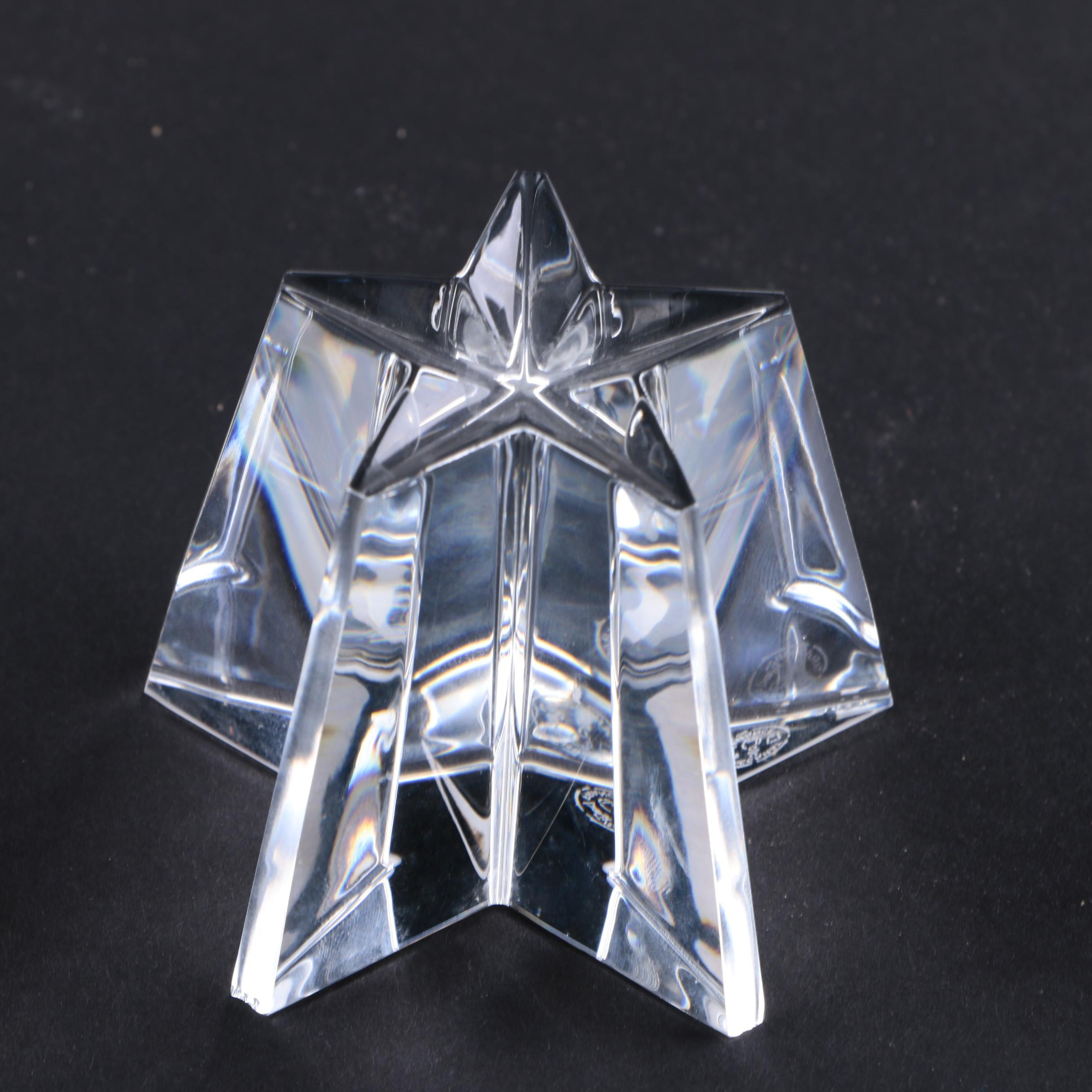 Baccarat Crystal Star Paperweight