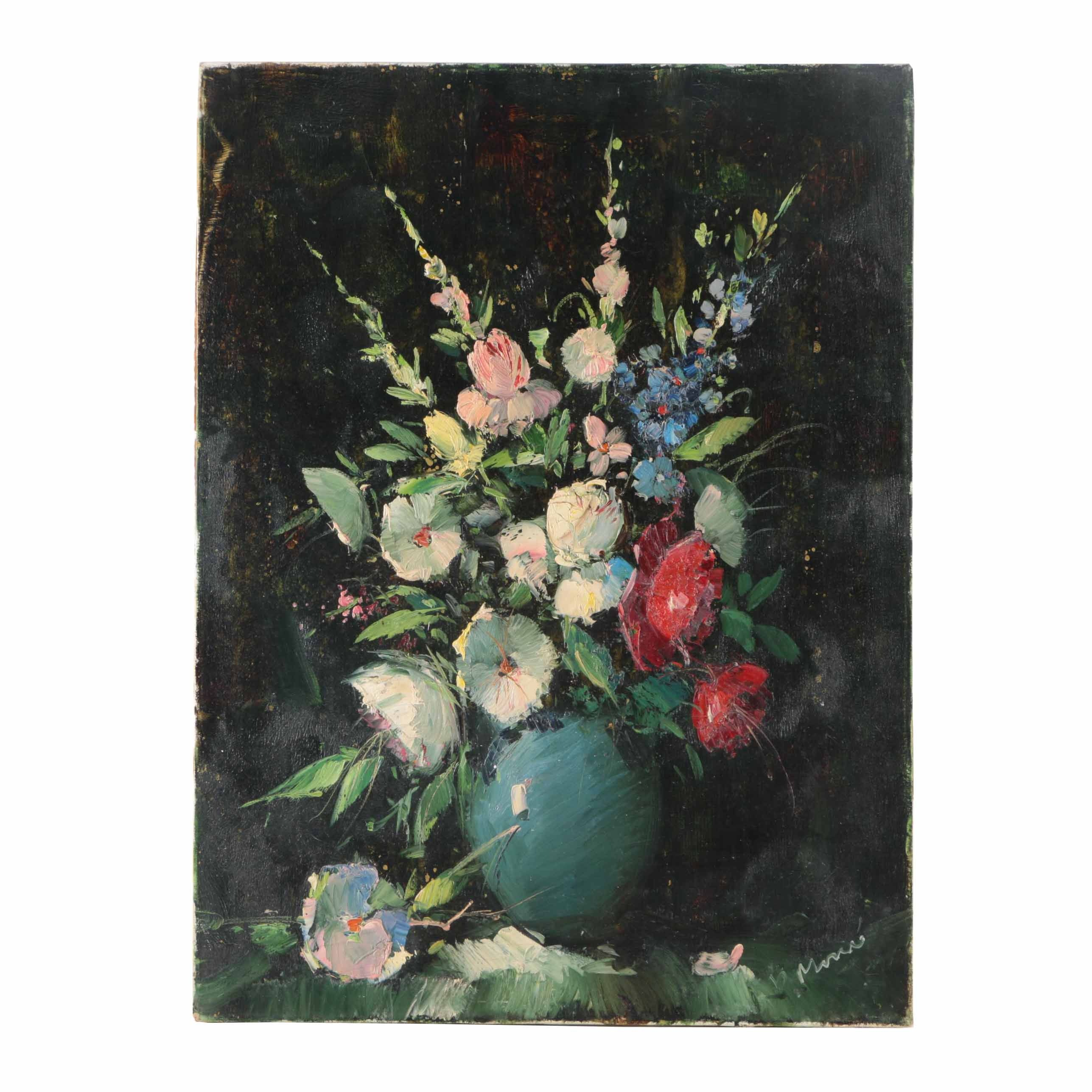 Oil Painting on Canvas Floral Still Life