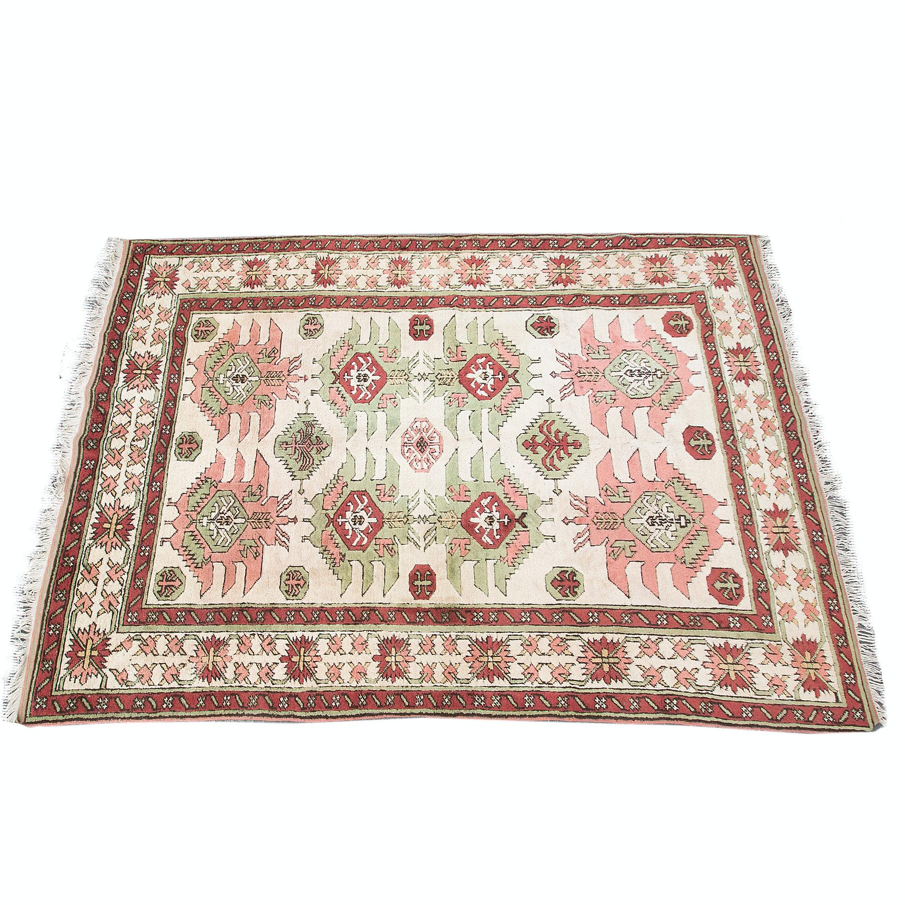Hand-Knotted Karabagh Wool Aea Rug
