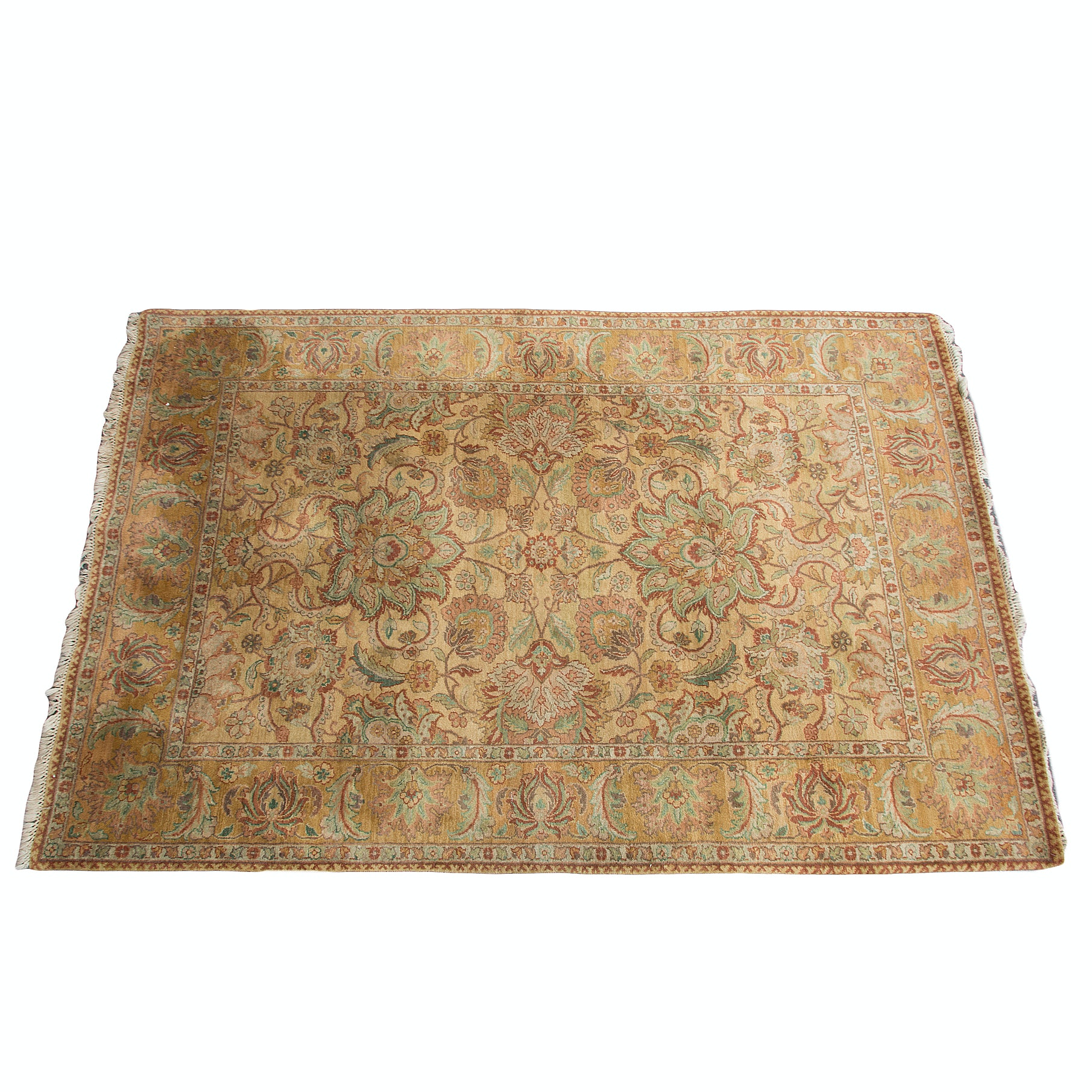 Hand-Knotted Persian-Style Palmette Area Rug