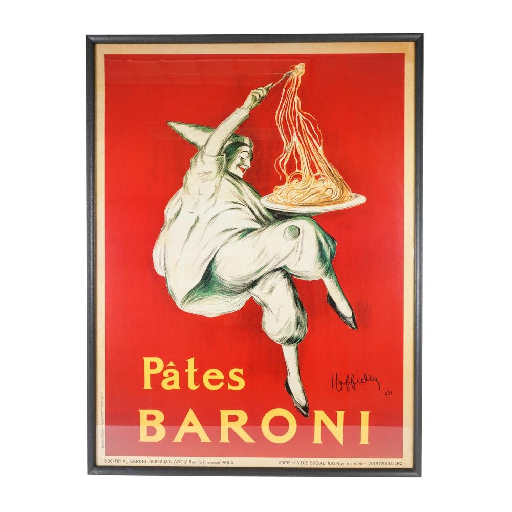"""""""Pates Baroni"""" Giclee After Leonetto Cappiello"""