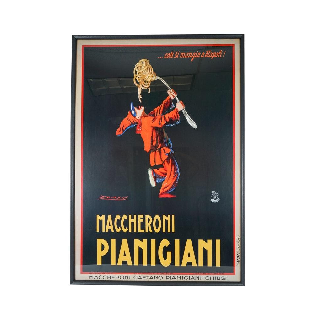 Large Giclee Print After Maccheroni Pianigiani Advertisement