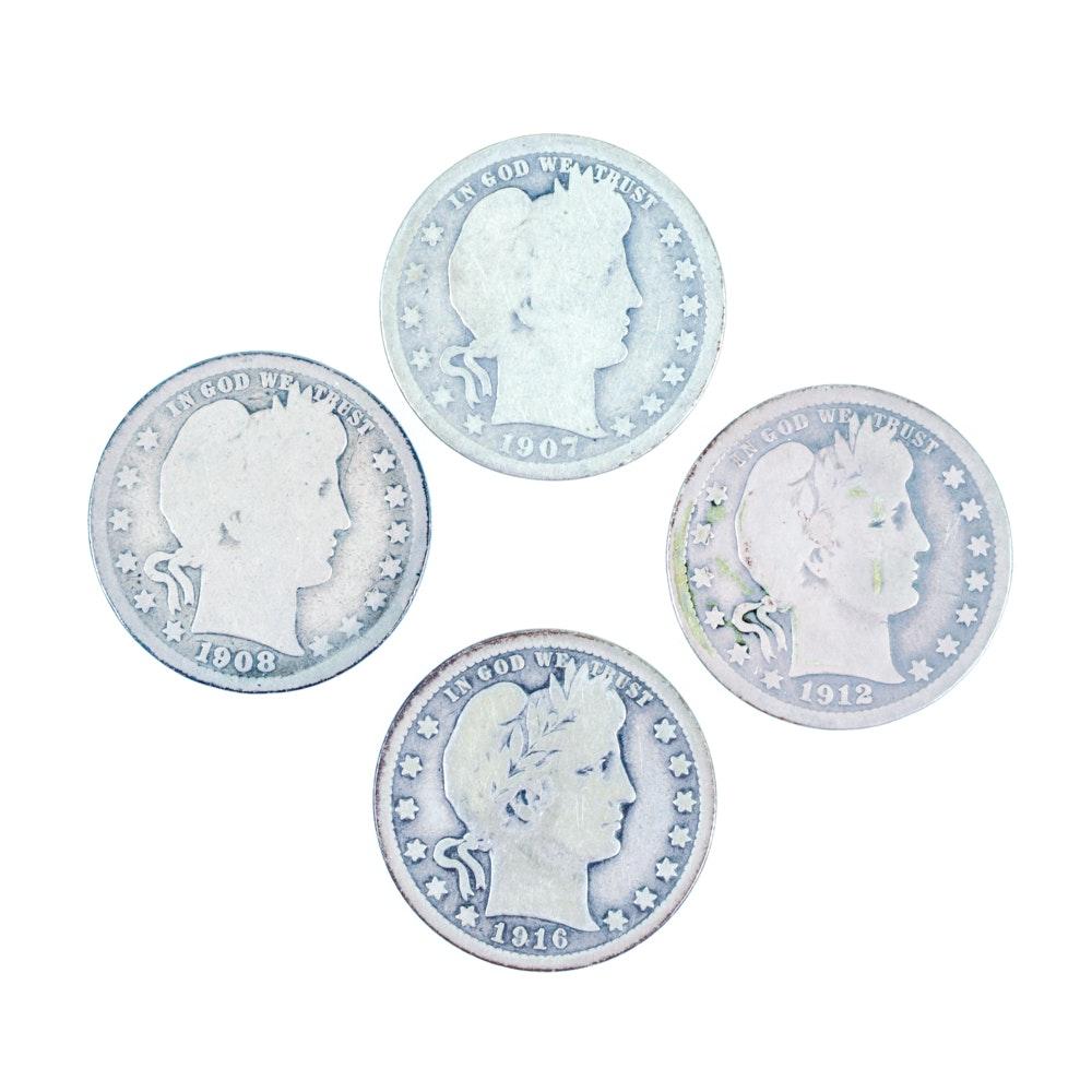 Group of Four U.S. Quarters