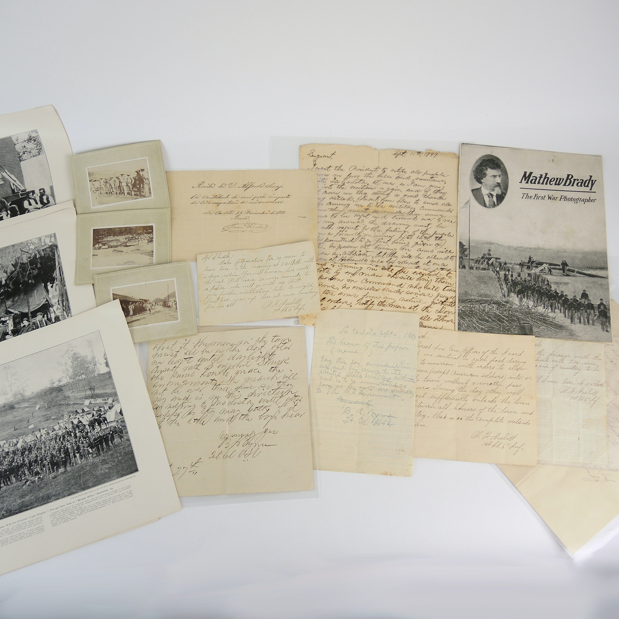 Antique War Letters and Reprints of Civil War Photos by Matthew Brady