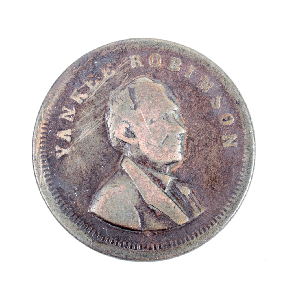 1869 Copper Yankee Robinsons Big Show Token