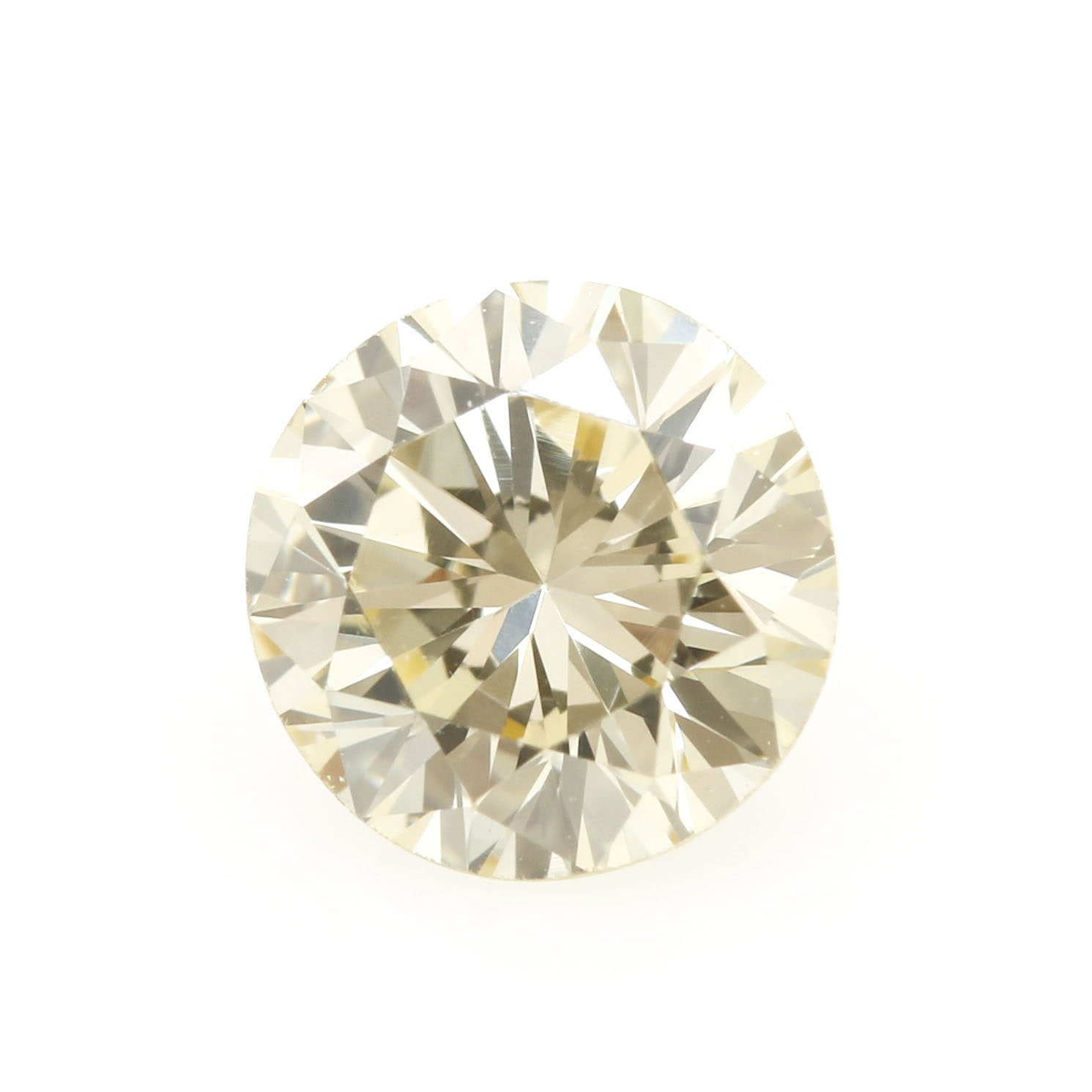 0.46 CT Loose Light Yellow Diamond Stone