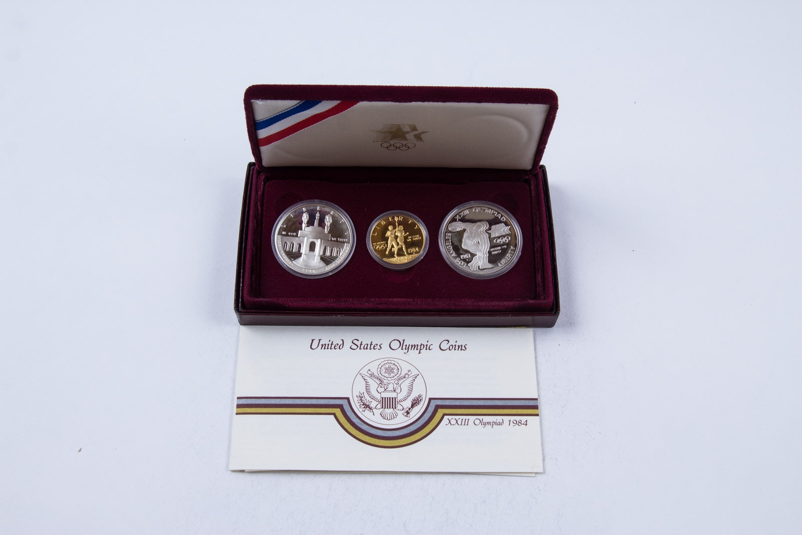 1984 Olympics Ten Dollar Gold Coin, with Related Silver Coinage