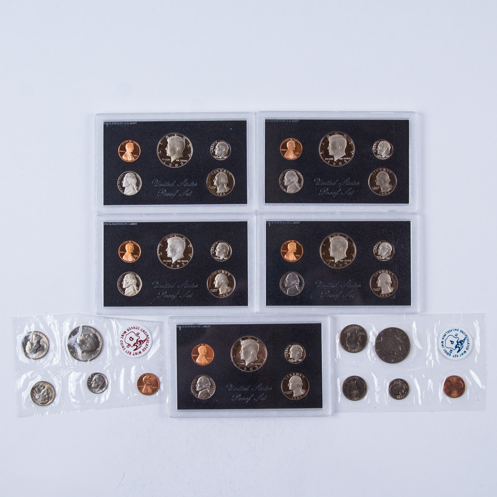 1983 Unites States Proof and Uncirculated Coin Set